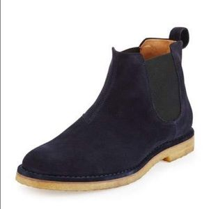 Vince   navy Chelsea boots sz 9